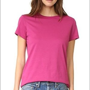 Vince | Pima Cotton Pink T Shirt Short Sleeve M